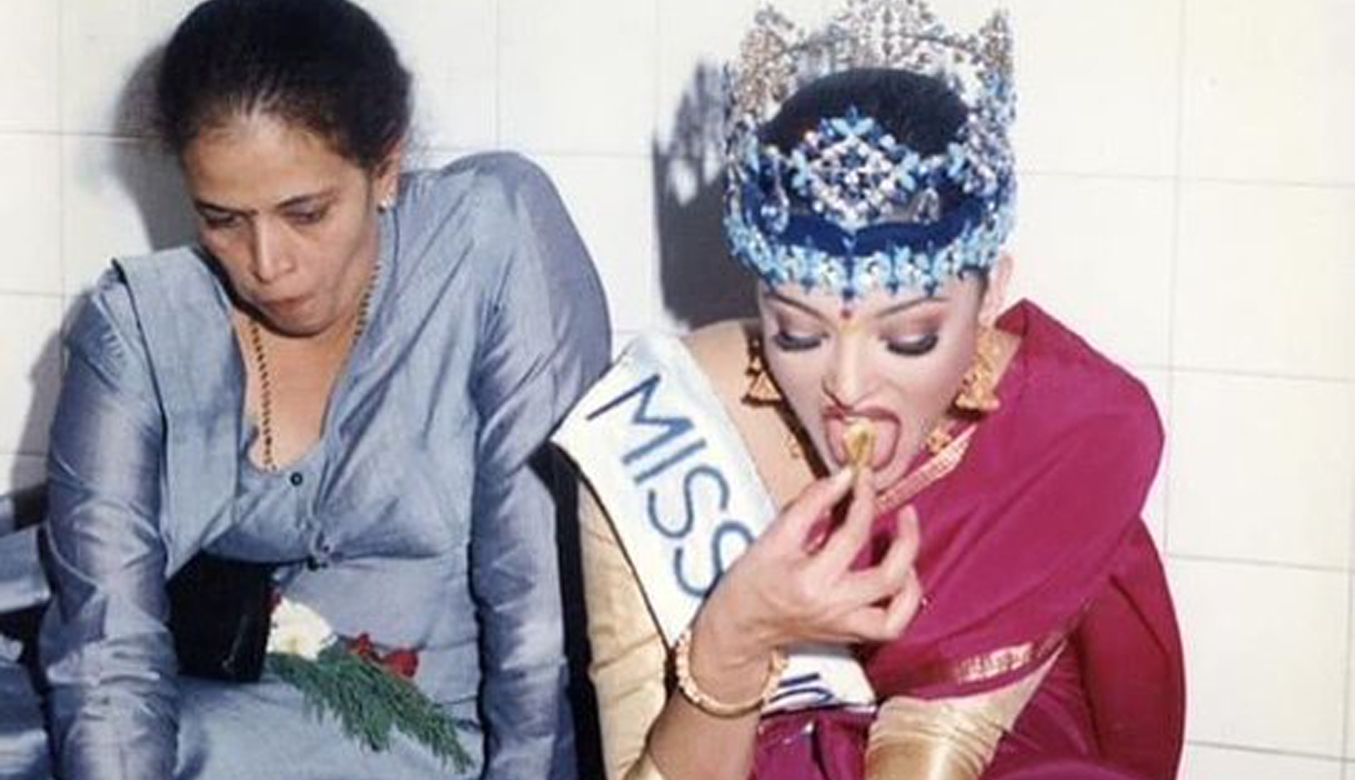 Aishwarya Rai eating straightforward feast on floor wearing Miss World crown photograph turns into a web sensation