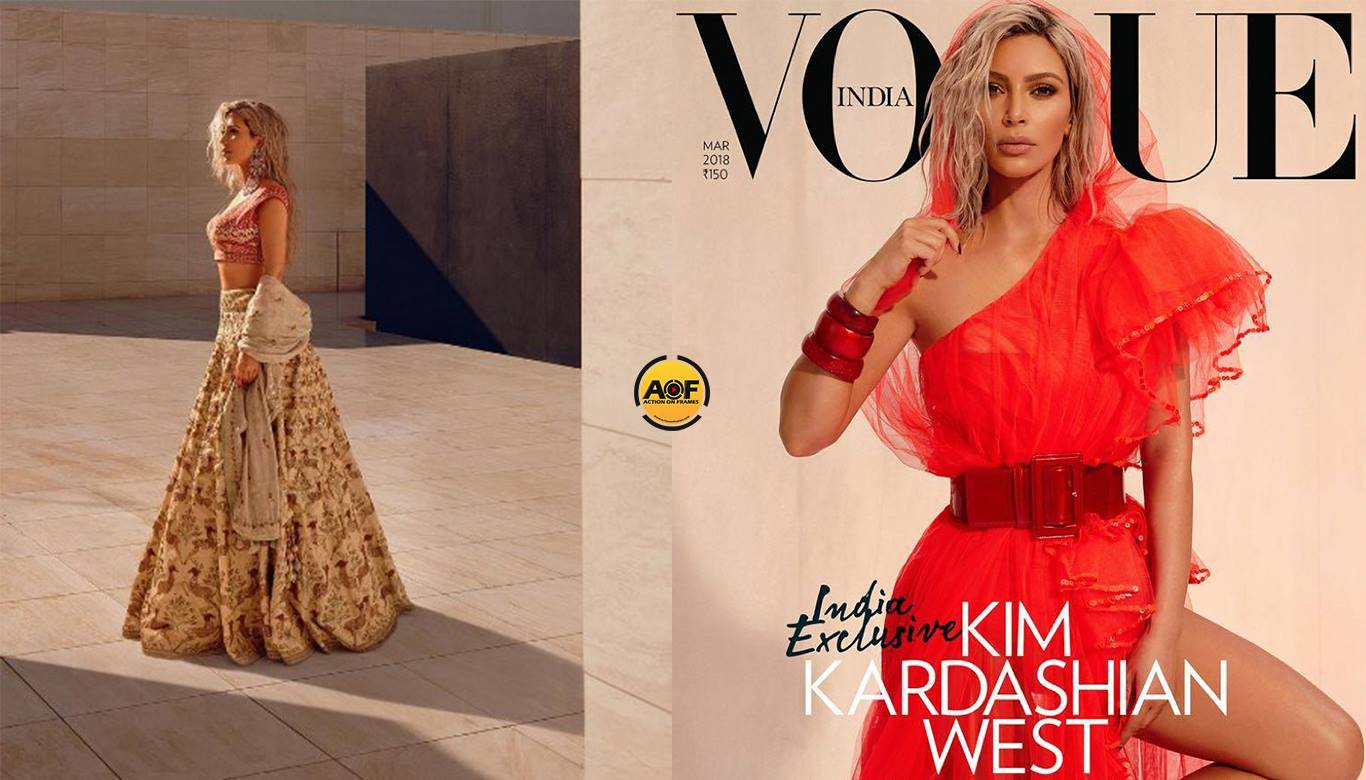 Kim Kardashians' Hotter Than Summer 'Vogue' India covers.