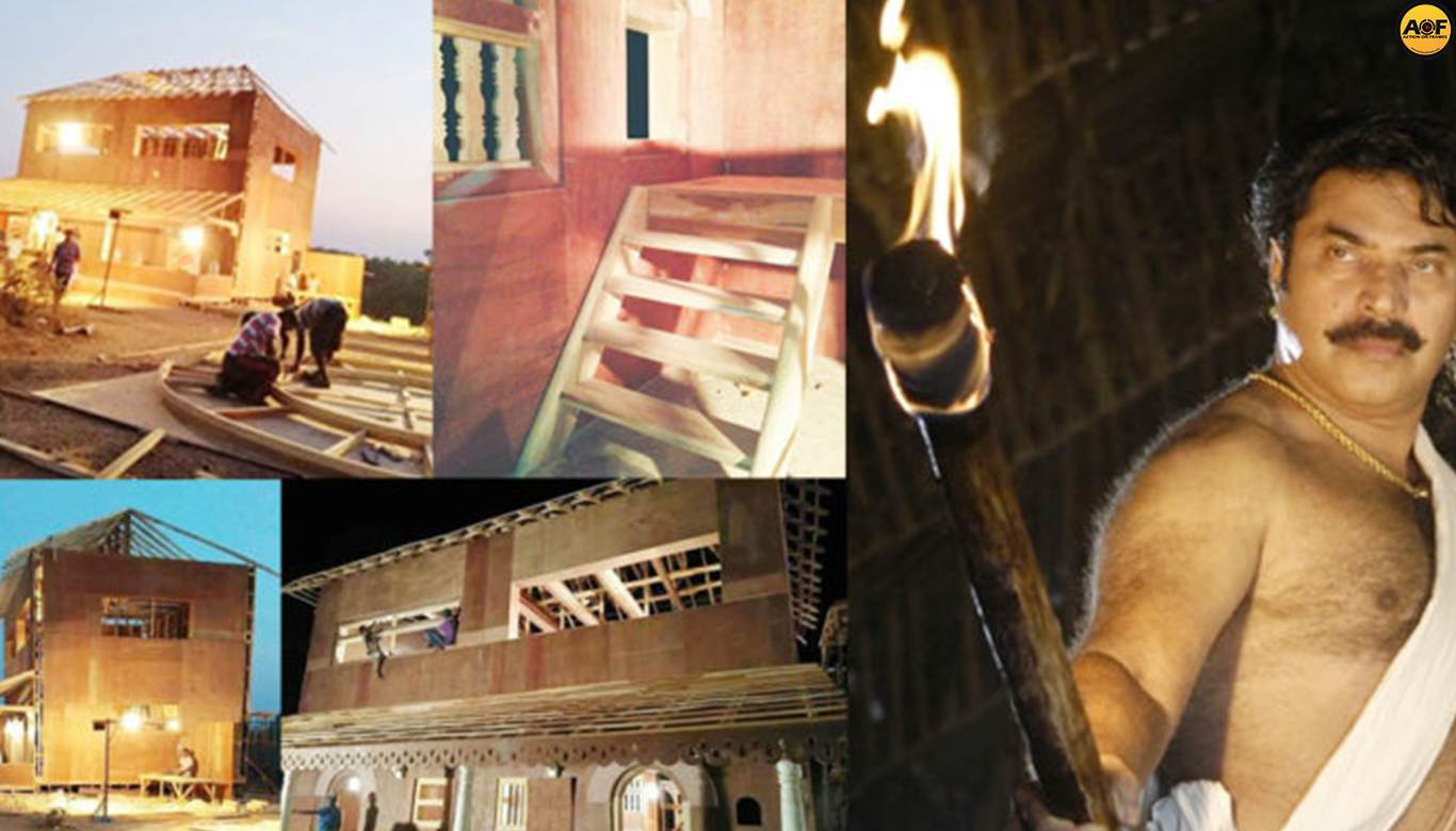 Mammoth sets getting ready for Mamankam; Pictures are out