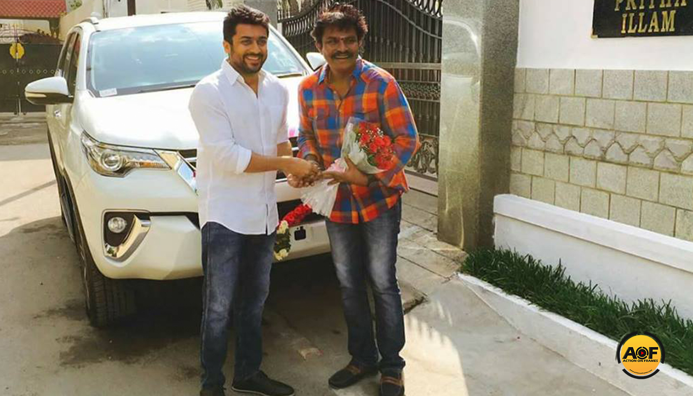 Suriya Gifts Fortuner to Director Hari for Singam 3 Success