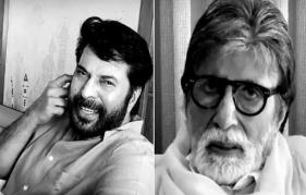 Mammootty recommends wearing fashionable shades on Amitabh Bachchan! The big stars of Indian cinema unite for a short film 'Family'