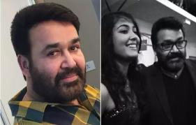 Mohanlal wishes his daughter Vismaya a warm birthday.