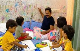 My kids are very pleased to have me around 24x7. Four of them are now a gang: Aju Varghese