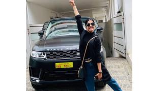 Rashmikas touching message to fans on buying a swanky car