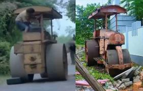 Road roller of 'Vellanakalude Nadu' for auction: New CP arrives to buy it