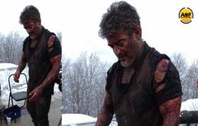 Thala Ajith picture on the sets of Vivegam goes viral