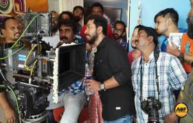 Vineeth Sreenivasan-Rejisha Vijayan film  OruCinemakkaran  shooting progress in kochi